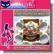 SET DE TE CLASICO DE CERAMICA CON TETERA, 4 TAZITAS, 4 PLATITOS Y SOPORTE DE MADERA