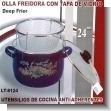OLLA FREIDORA CON TAPA DE VIDRIO 24CMS.
