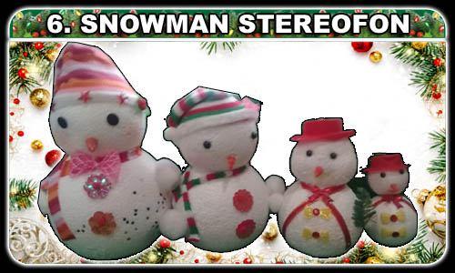 Selecciona lo que desees! (6. Snowman stereofon ¢1550, ¢1200, ¢750, ¢550)